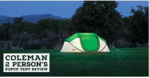 coleman 2 persons popup tent review detail