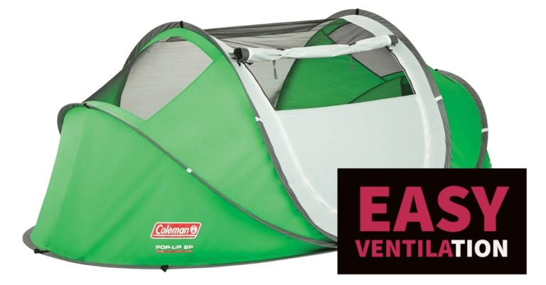 coleman 2 persons popup tent review