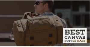 Best Canvas leather duffle bags for men