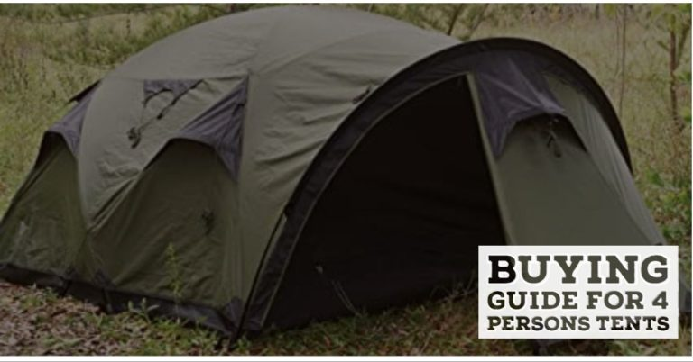 buying guide for a 4 persons tent